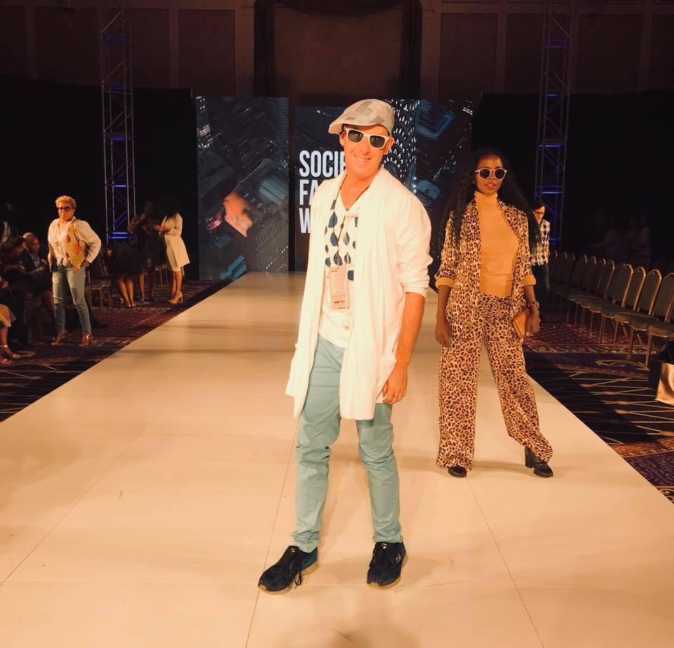 Chuck Pfoutz at New York Fashion Week